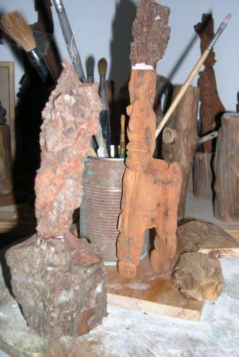 établi, bois, couteau de sculpteur, provence, pin