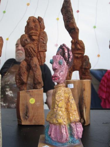 sculpture, écorce de pin, bastille, marché de la ccréation
